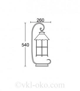 Светильник парковый Lusterlicht Caior I 11682H