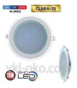 Светильник потолочный LED Horoz CLARA-15W  (стекло, круг)