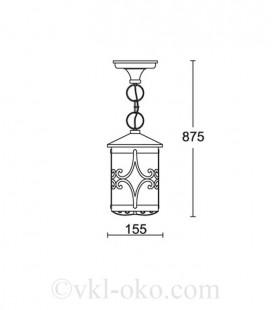 Светильник парковый Lusterlicht Cordoba III 1765