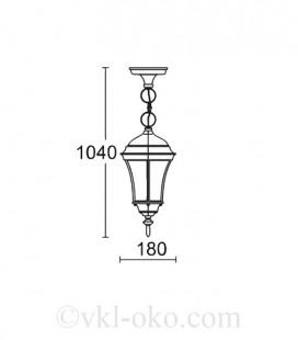 Светильник парковый Lusterlicht Dallas I 1315