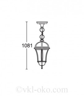 Светильник парковый Lusterlicht Real I 1565S