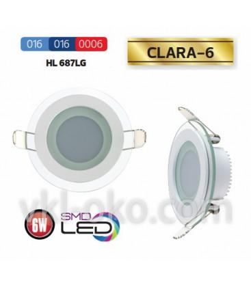 Светильник потолочный LED Horoz CLARA-6W  HL 687LG