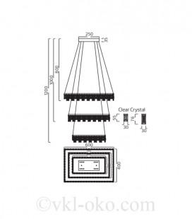 Декоративная светодиодная люстра Horoz PANDORA-72 72W