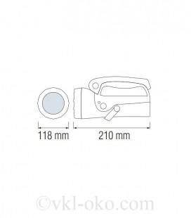 Фонарь светодиодный ручной Horoz MARADONA-2 5W