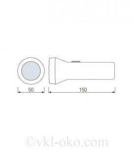 Фонарь светодиодный ручной Horoz PUSKAS-3 0.9W