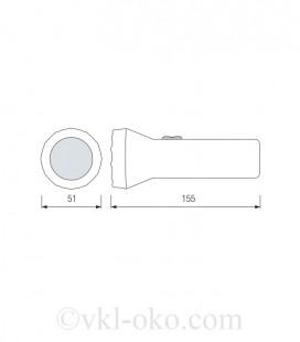 Фонарь светодиодный ручной Horoz PELE-1 0.5W