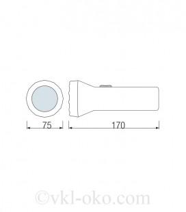 Фонарь светодиодный ручной Horoz PELE-2 1W