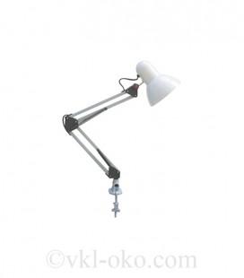 Настольный светильник Horoz RANA на струбцине под лампу Е27 белый