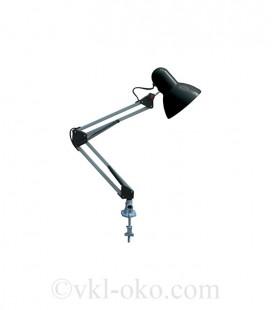 Настольный светильник Horoz RANA на струбцине под лампу Е27 черный