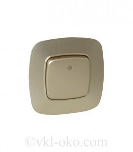 Выключатель одноклавишный с подсветкой Horoz ELA белый