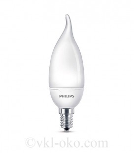 Светодиодная лампа Philips ESS LED Candle 6.5W E14 BA35 NDFRRCA cвеча на ветру