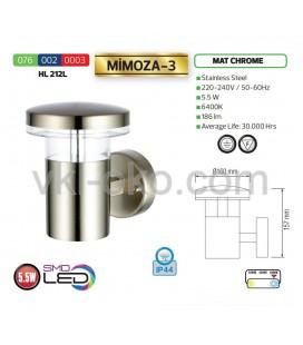 Уличный настенный светодиодный светильник Horoz 5.5W  MIMOZA-3